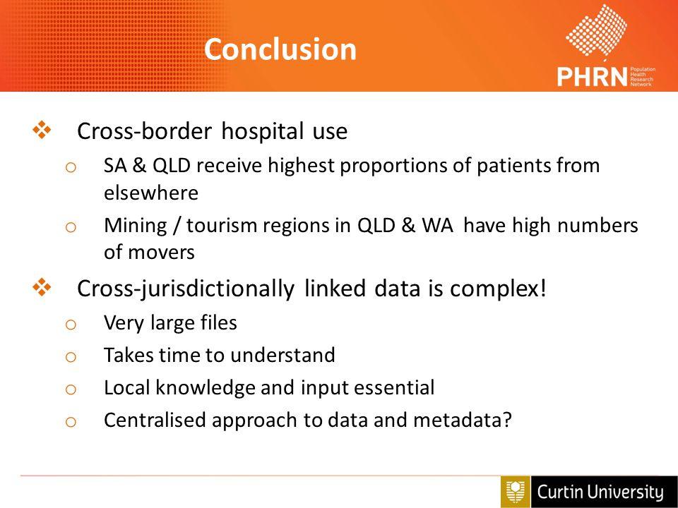 Conclusion Cross-border hospital use