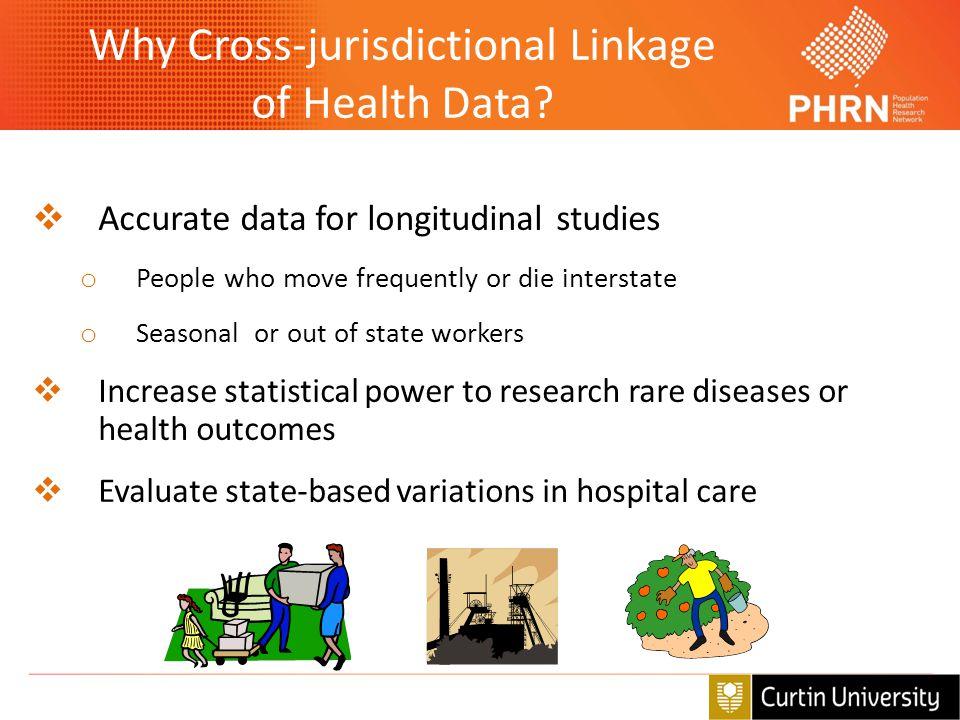 Why Cross-jurisdictional Linkage of Health Data