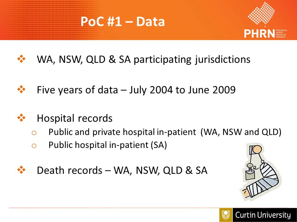 PoC #1 – Data WA, NSW, QLD & SA participating jurisdictions