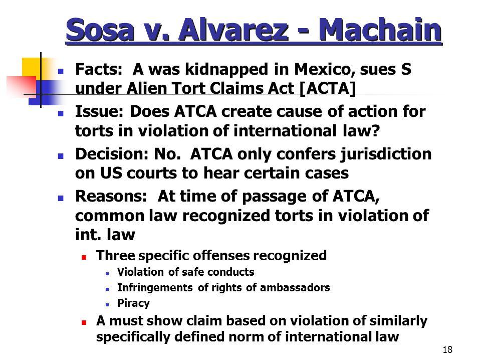 Sosa v. Alvarez - Machain