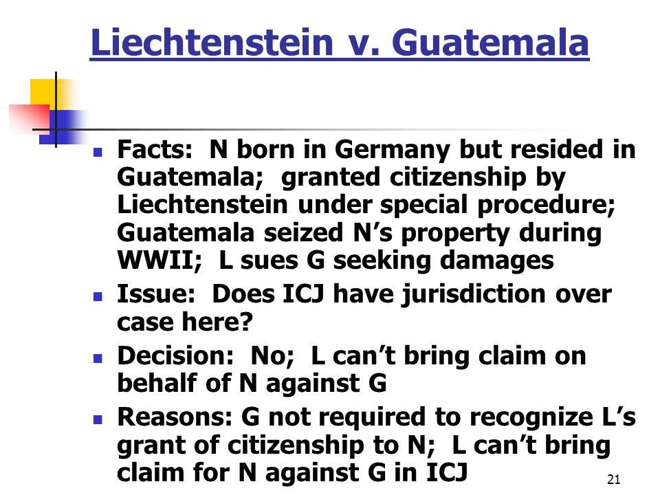 Liechtenstein v. Guatemala