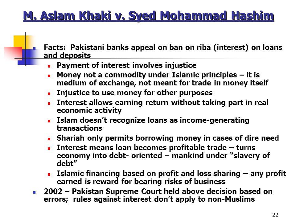 M. Aslam Khaki v. Syed Mohammad Hashim