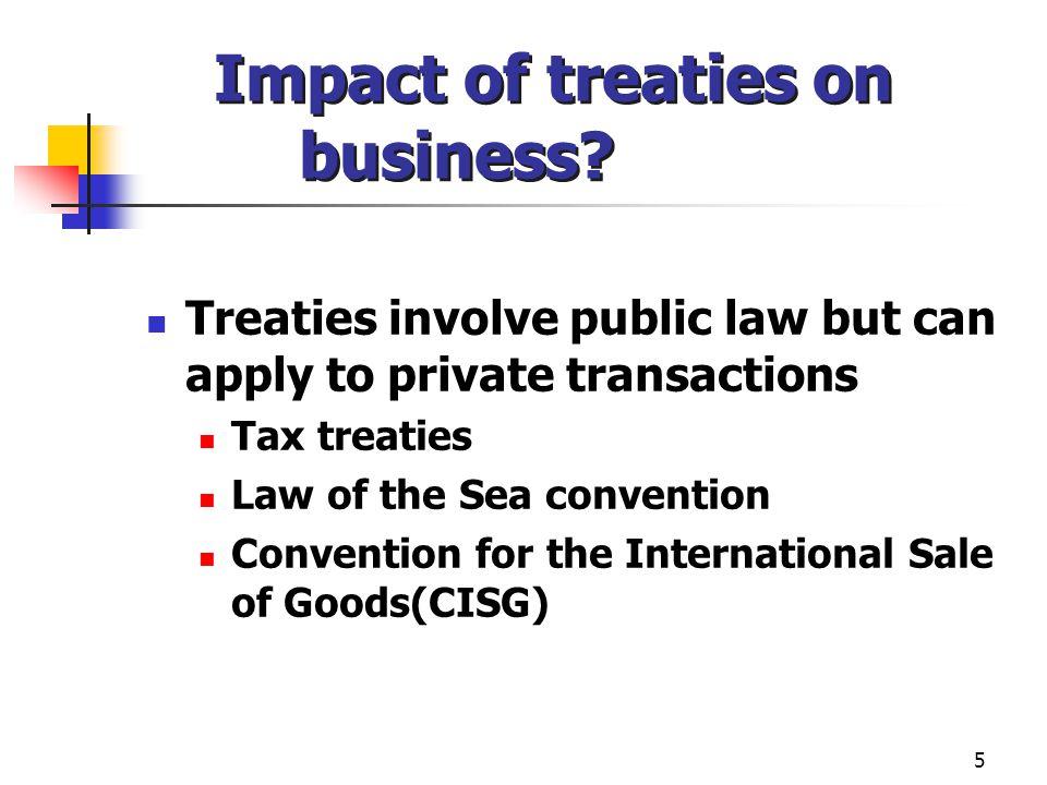 Impact of treaties on business