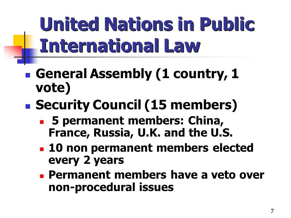 United Nations in Public International Law