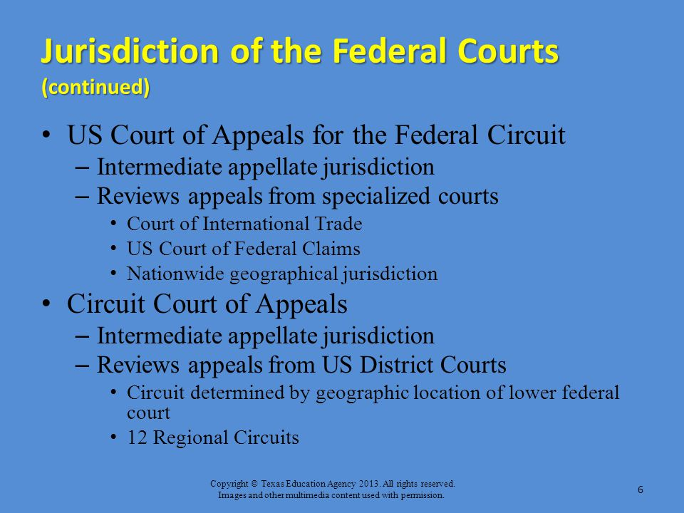 Jurisdiction of the Federal Courts (continued)