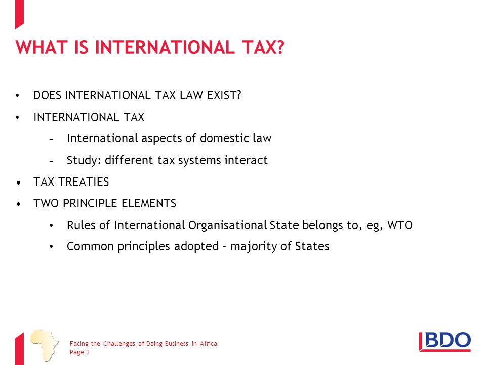 whAT iS International tax