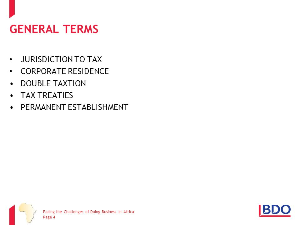 GENERAL TERMS JURISDICTION TO TAX CORPORATE RESIDENCE DOUBLE TAXTION