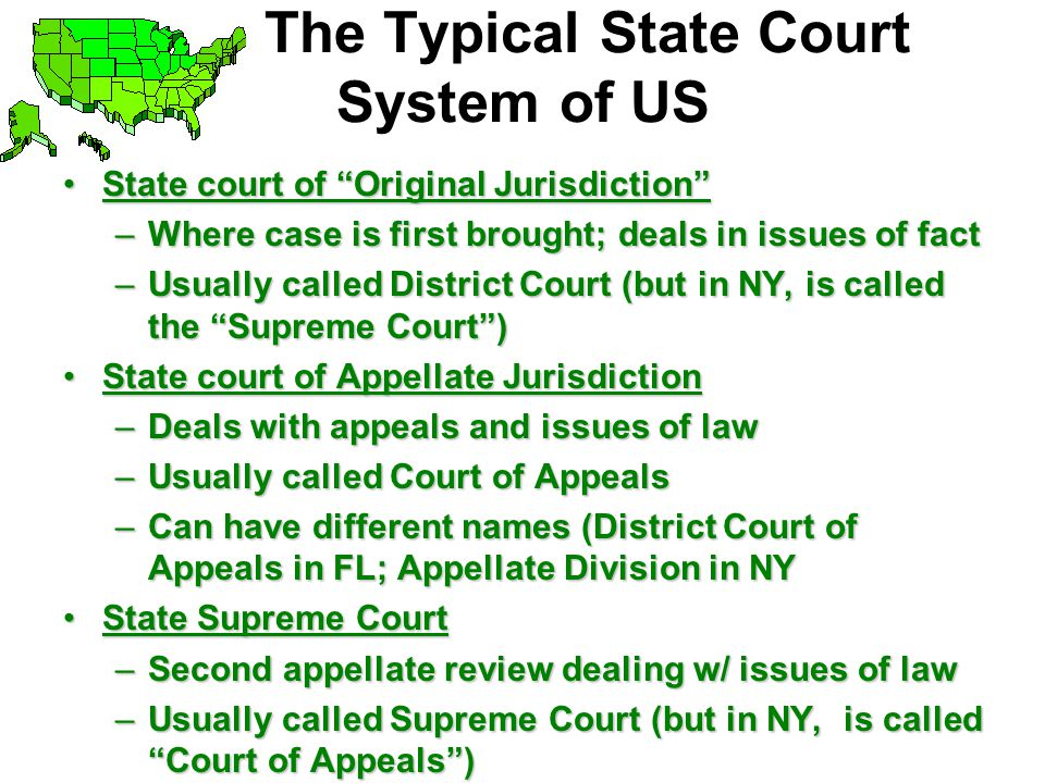 The Typical State Court System of US