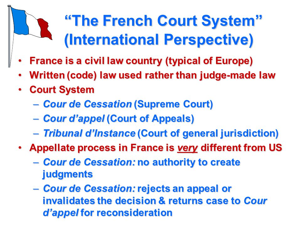 The French Court System (International Perspective)