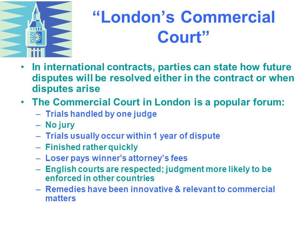 London's Commercial Court