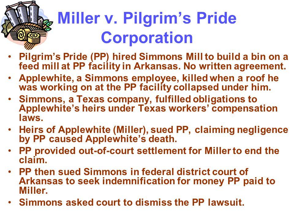 Miller v. Pilgrim's Pride Corporation