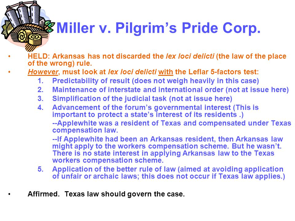 Miller v. Pilgrim's Pride Corp.