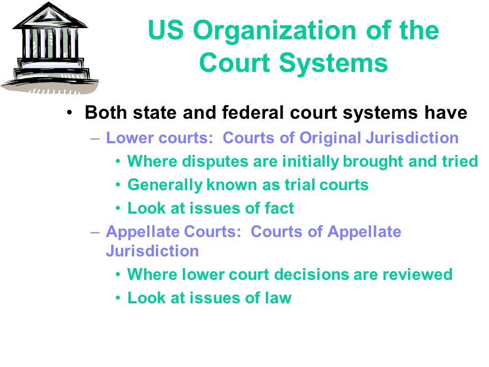 US Organization of the Court Systems
