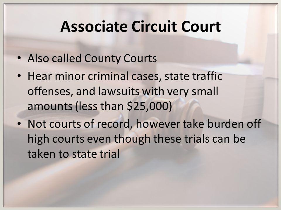 Associate Circuit Court