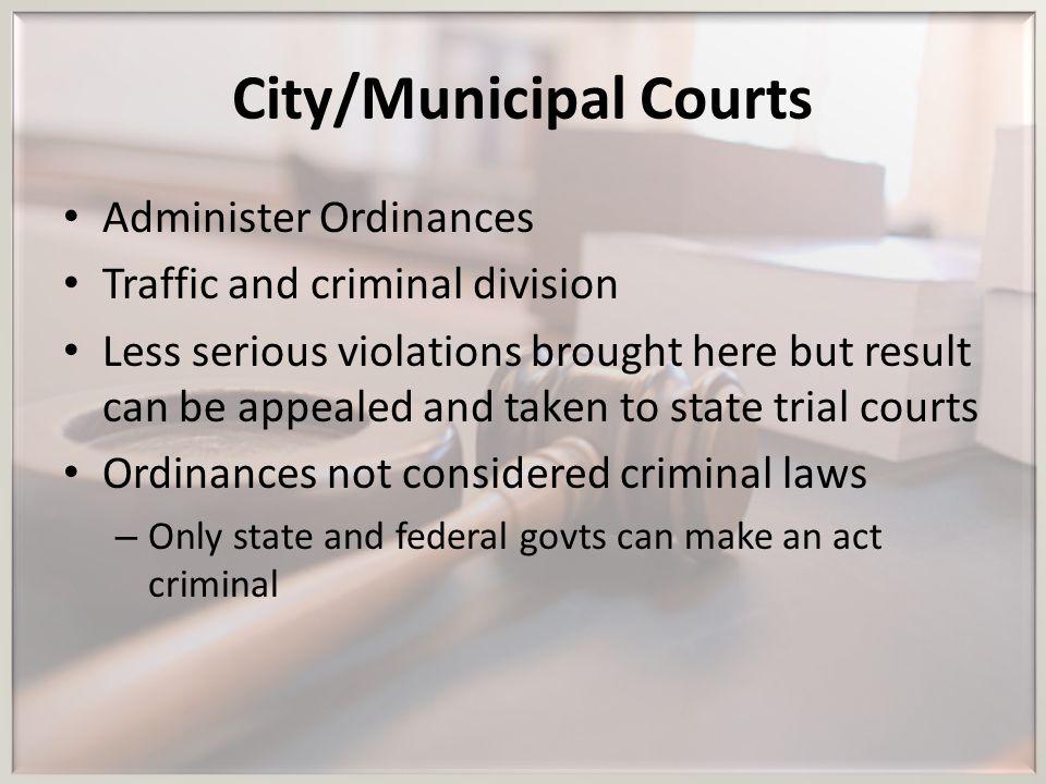 City/Municipal Courts