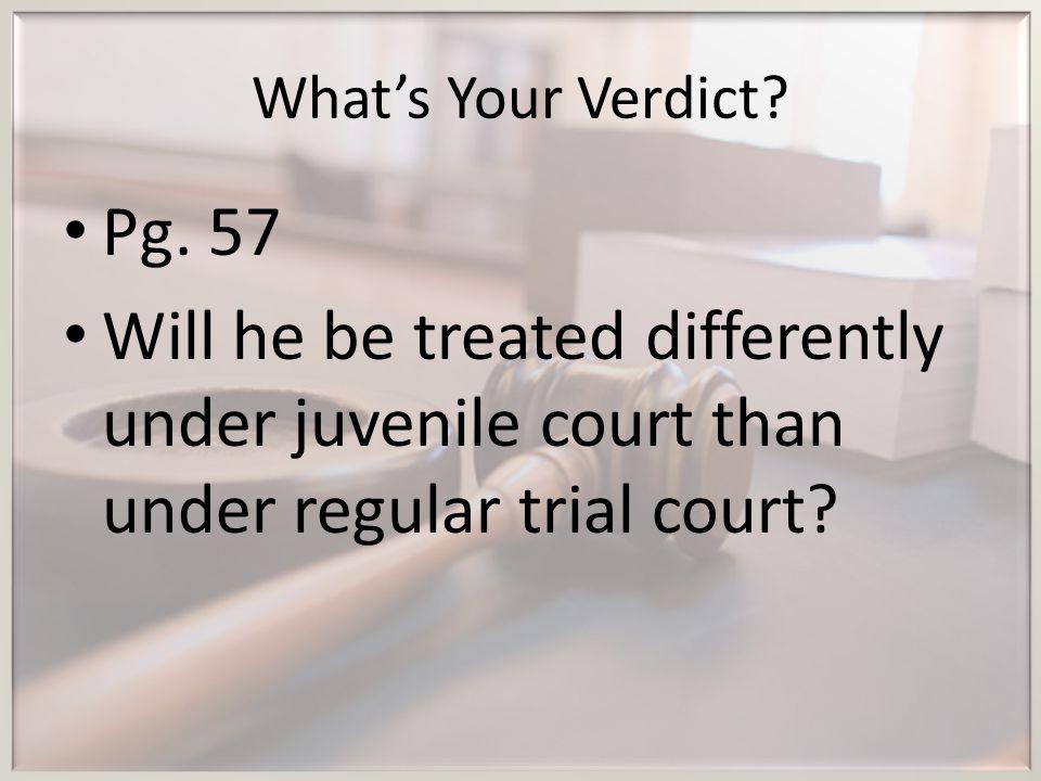 What's Your Verdict. Pg. 57.