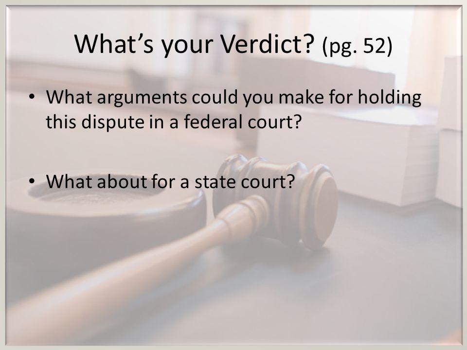 What's your Verdict (pg. 52)