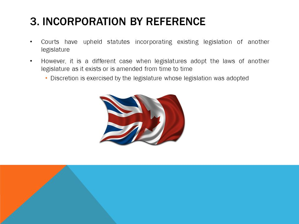 3. Incorporation by reference