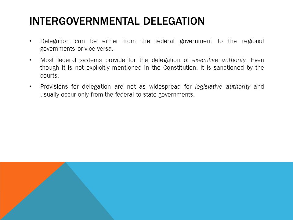 Intergovernmental delegation