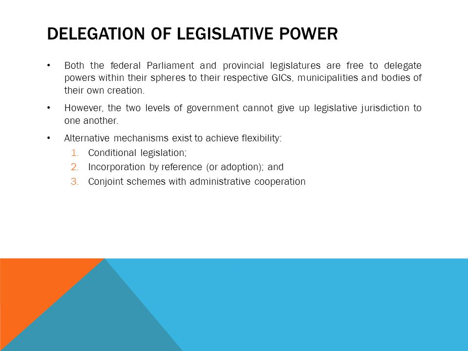Delegation of Legislative Power