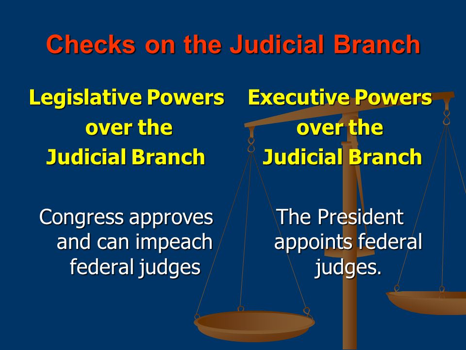Checks on the Judicial Branch
