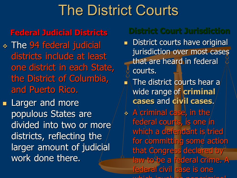 District Court Jurisdiction Federal Judicial Districts