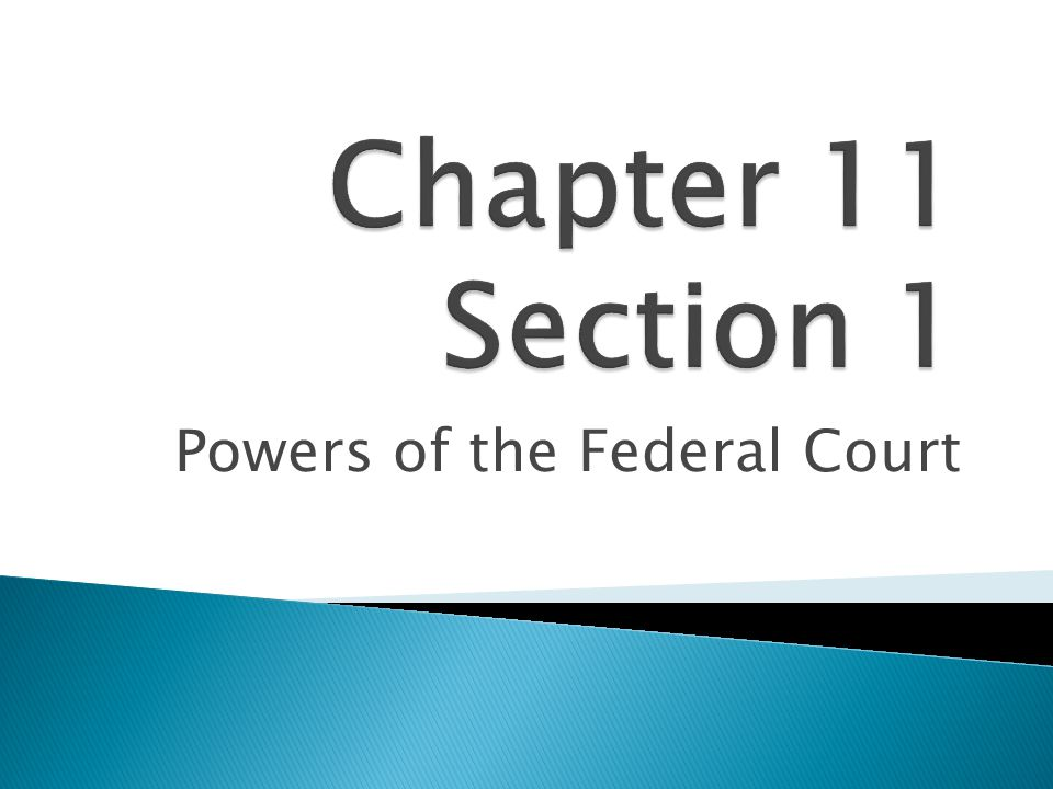 Powers of the Federal Court