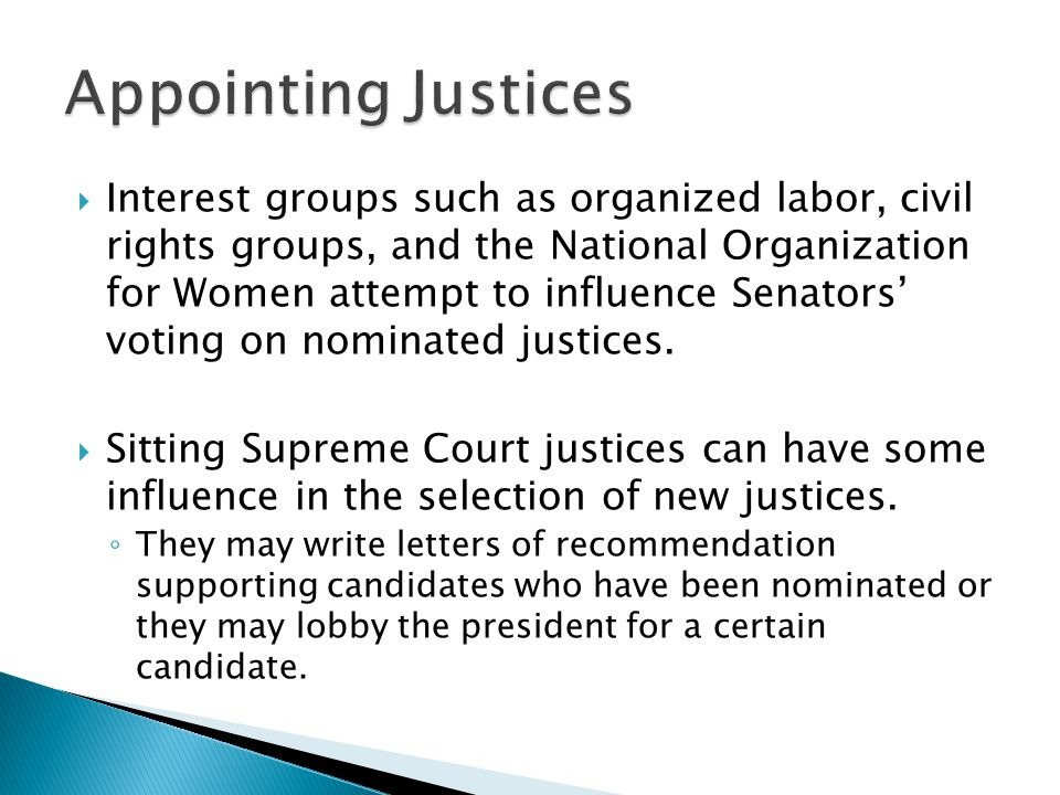 Appointing Justices