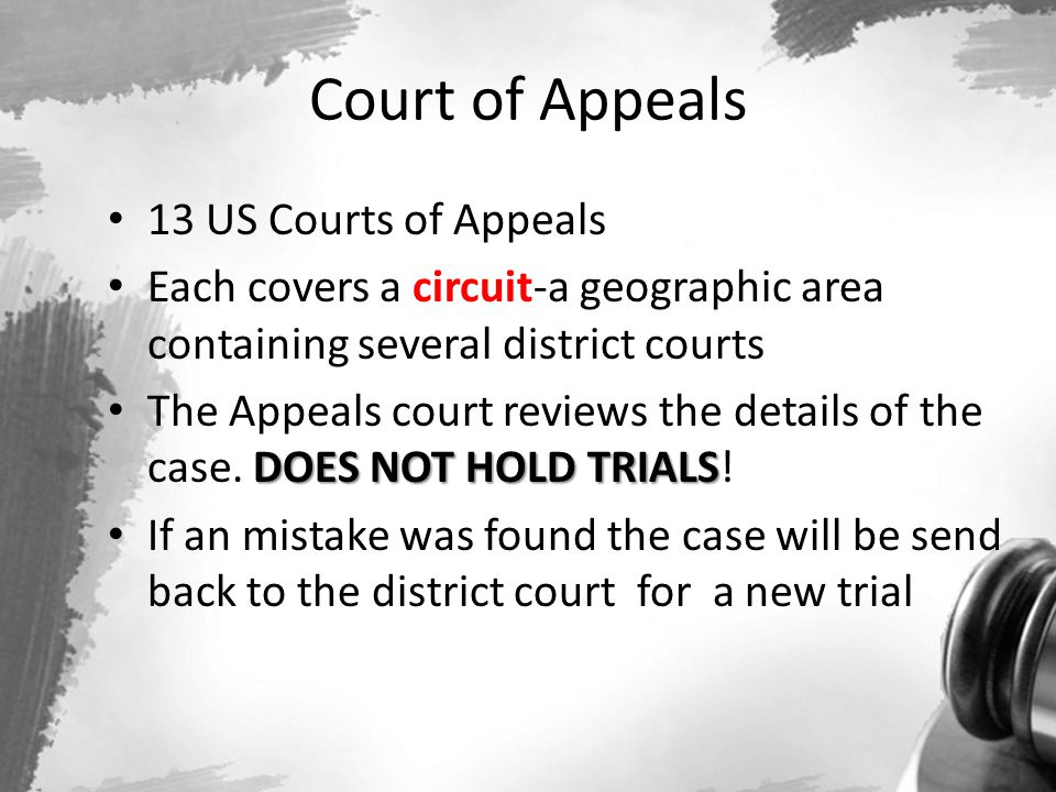 Court of Appeals 13 US Courts of Appeals