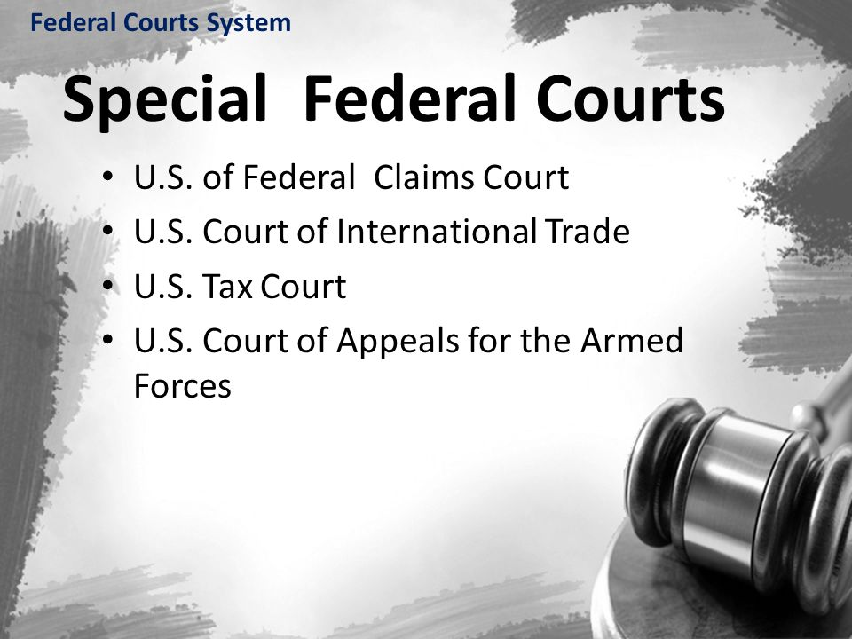Special Federal Courts