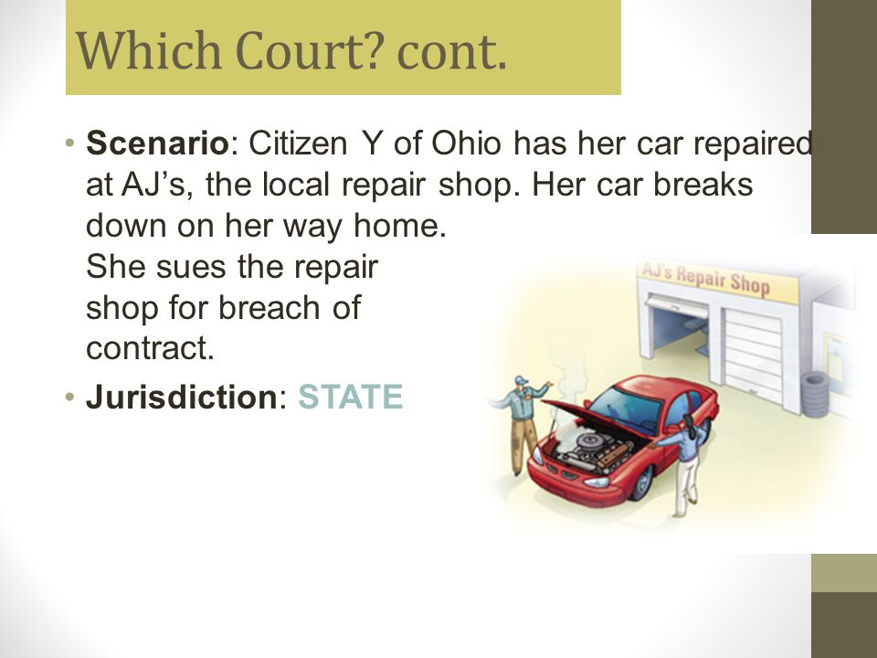 Which Court cont.