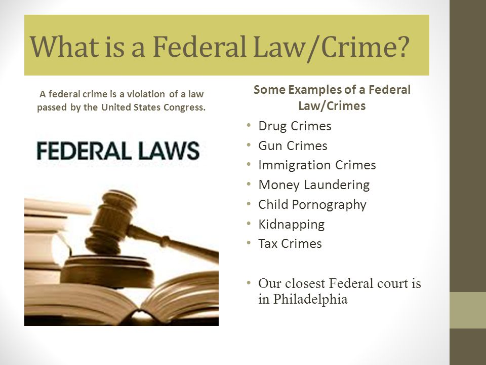 What is a Federal Law/Crime