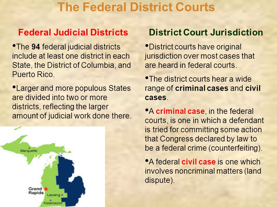 The Federal District Courts