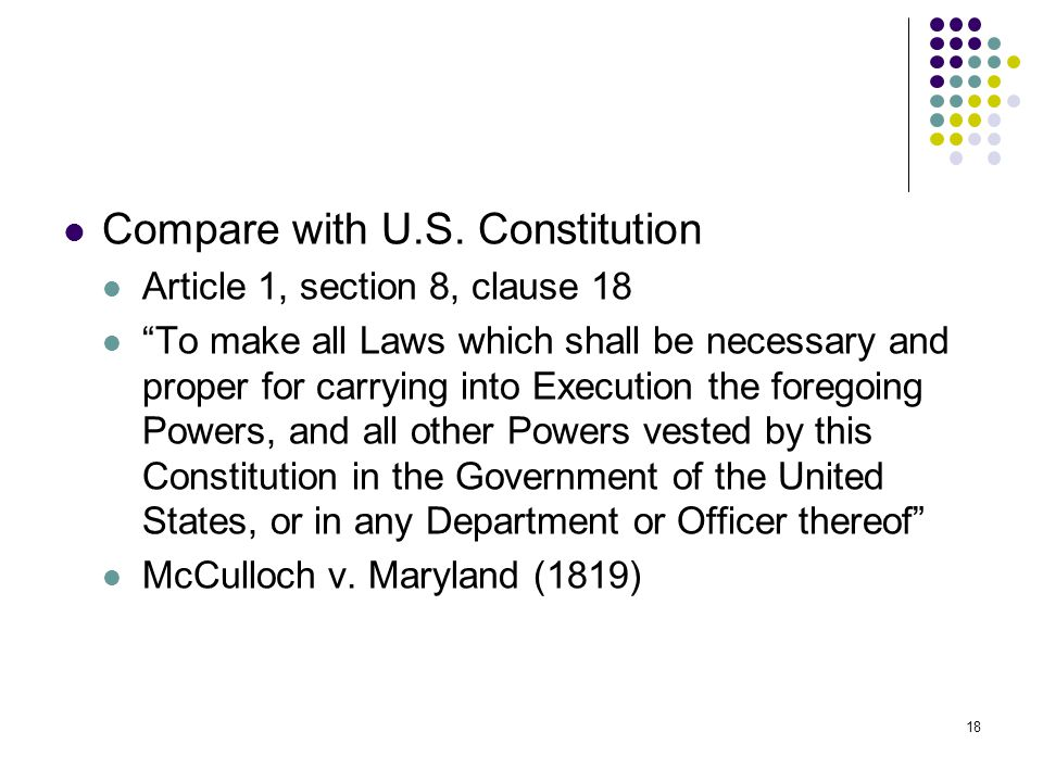 Compare with U.S. Constitution