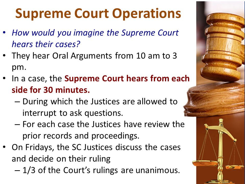 Supreme Court Operations