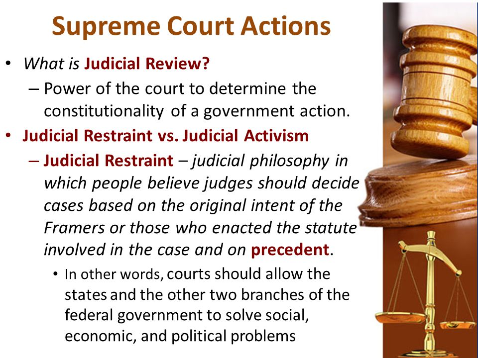 Supreme Court Actions What is Judicial Review