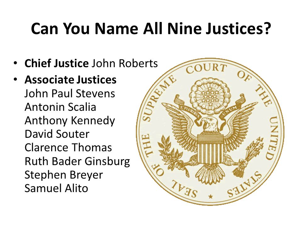 Can You Name All Nine Justices