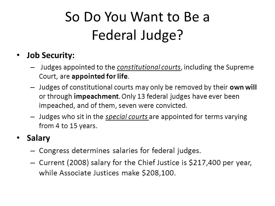 So Do You Want to Be a Federal Judge