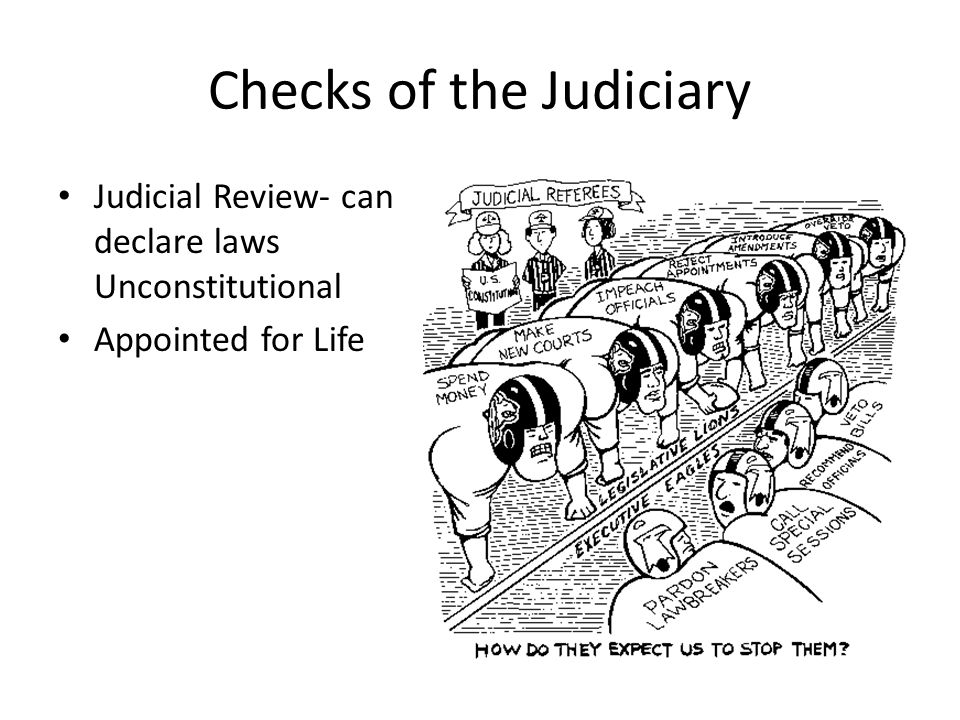 Checks of the Judiciary