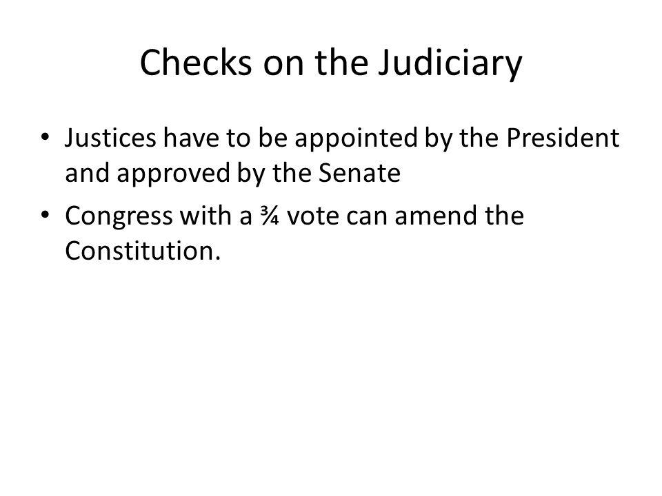 Checks on the Judiciary