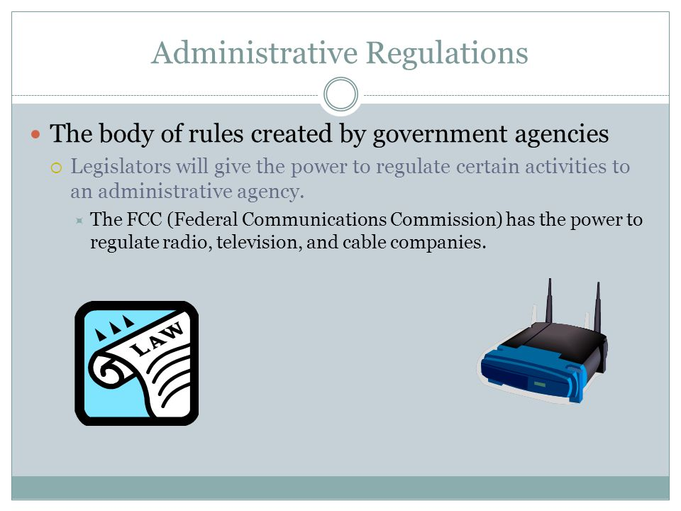 Administrative Regulations