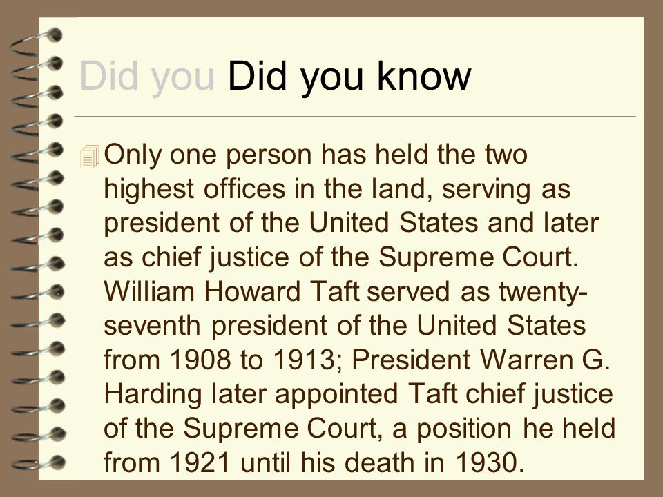 Did you Did you know