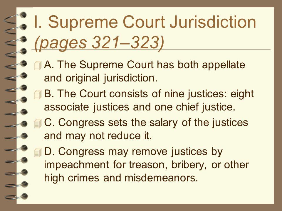 I. Supreme Court Jurisdiction (pages 321–323)