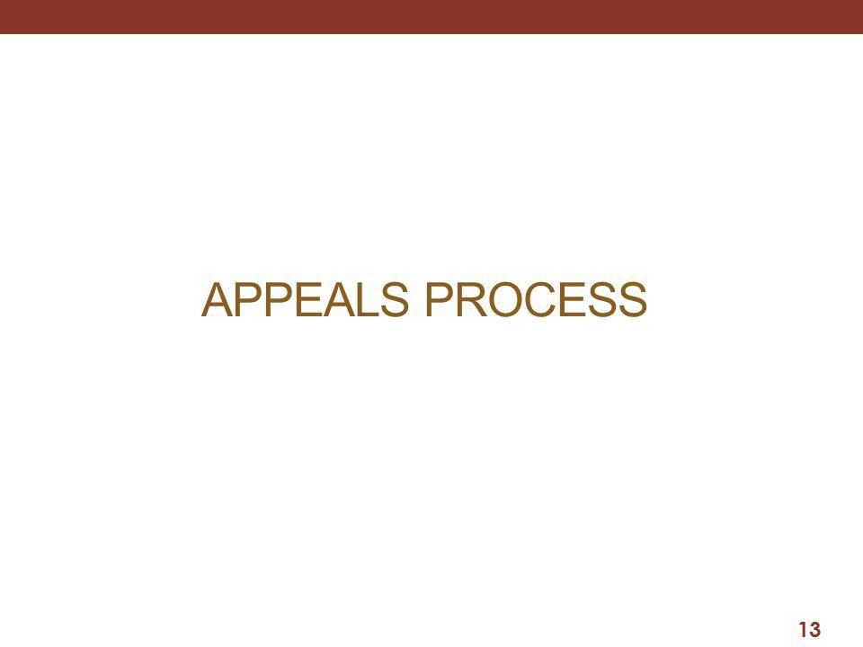APPEALS PROCESS 13