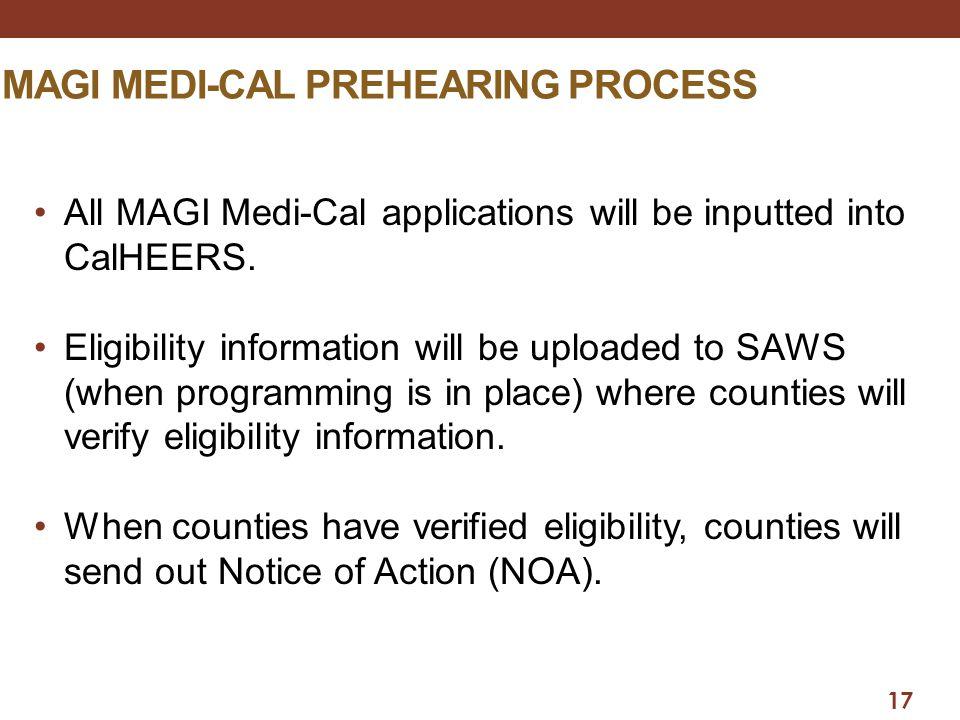 Magi medi-cal prehearing process