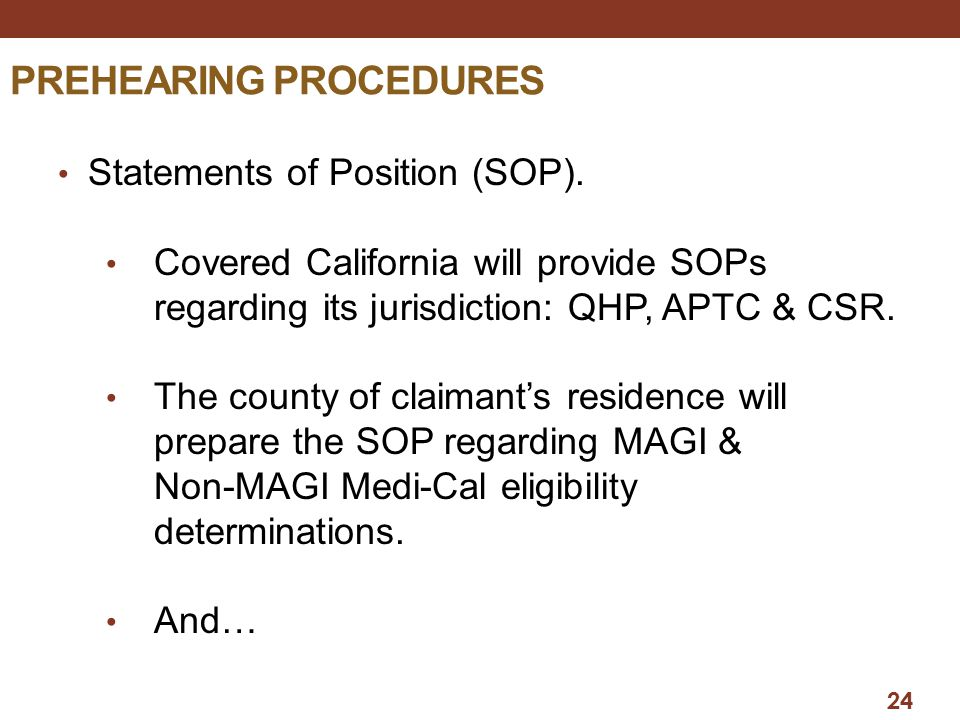 PREHEARING PROCEDURES