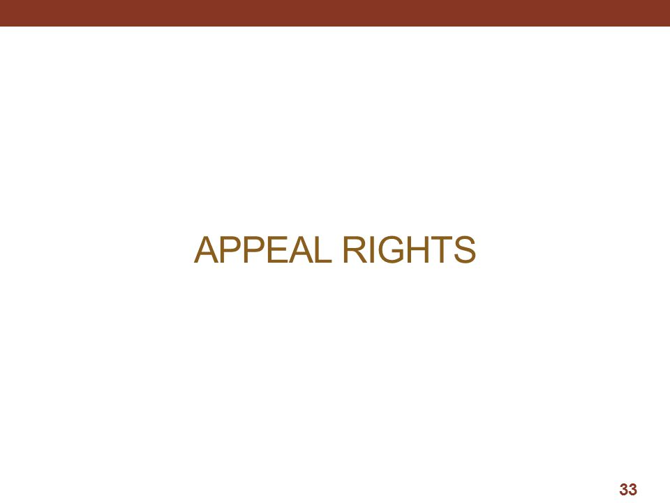 APPEAL RIGHTS 33