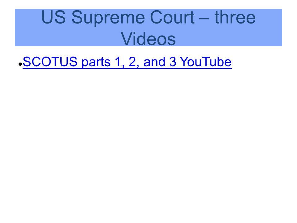 US Supreme Court – three Videos