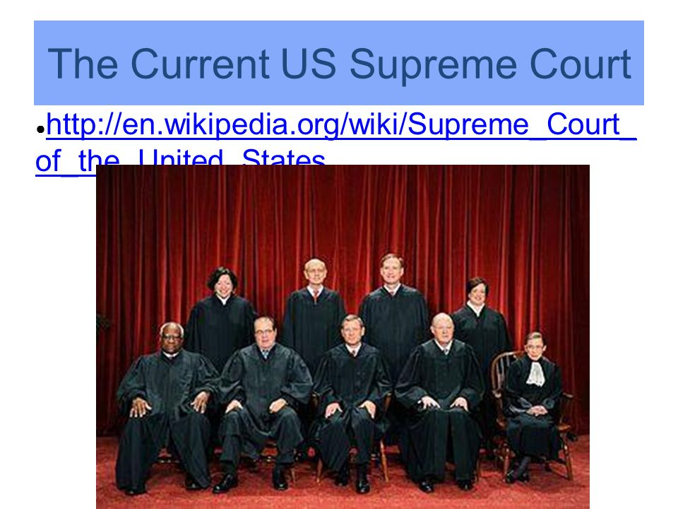 The Current US Supreme Court