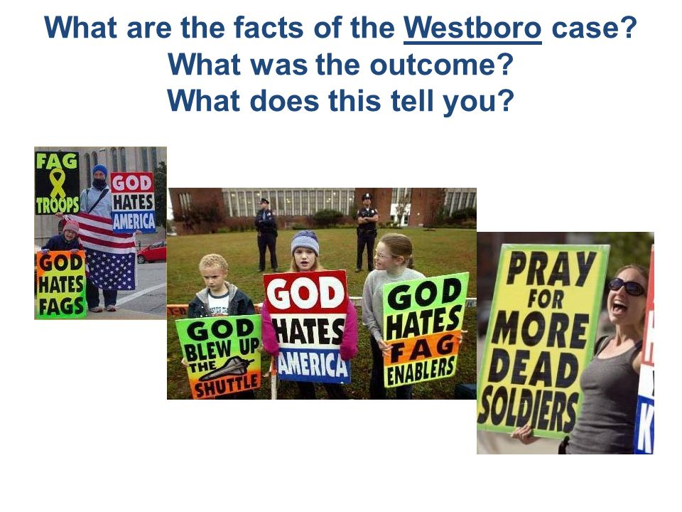 What are the facts of the Westboro case. What was the outcome